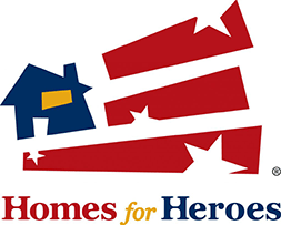 Image of Homes for Heroes Logo - Flip Side Realty By Design is a Proud Program Participant